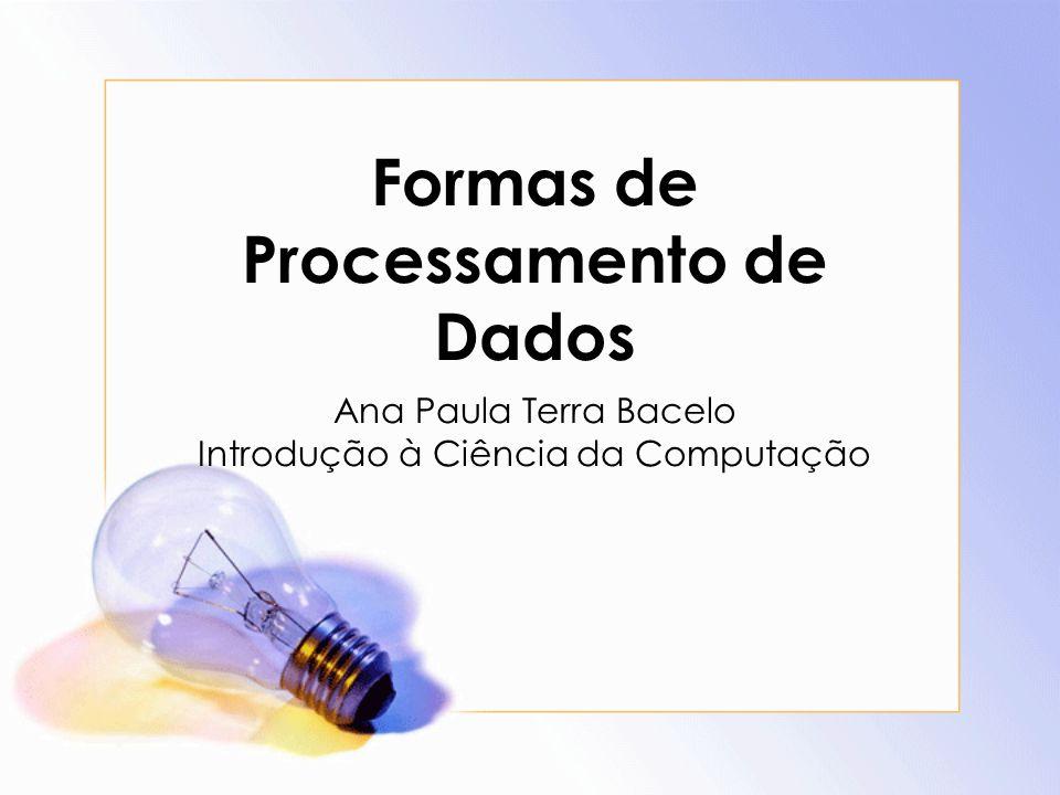 Giraffa & Ana Paula - ICC -2 0062 Processamento em Batch Era o mais utilizado nos centros de processamento de dados na década de 1950 Executa uma série de programas em seqüência sem a intervenção do usuário final Praticamente descartado e poucas são as aplicações desse tipo