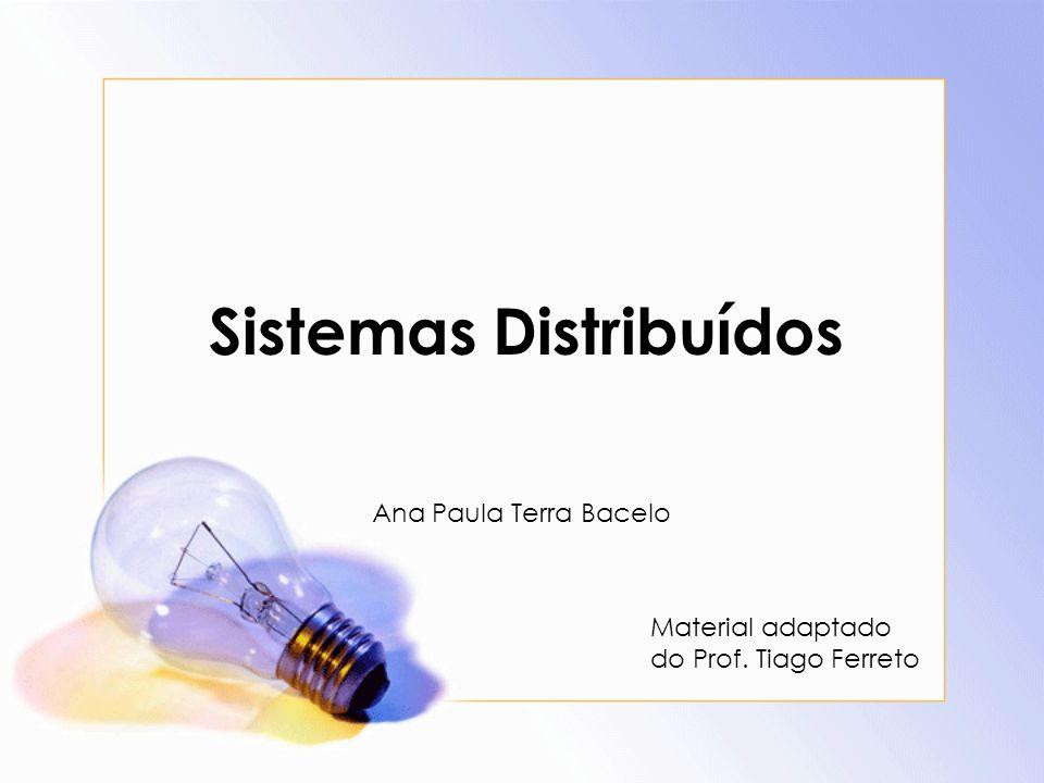 Sistemas Distribuídos Ana Paula Terra Bacelo Material adaptado do Prof. Tiago Ferreto