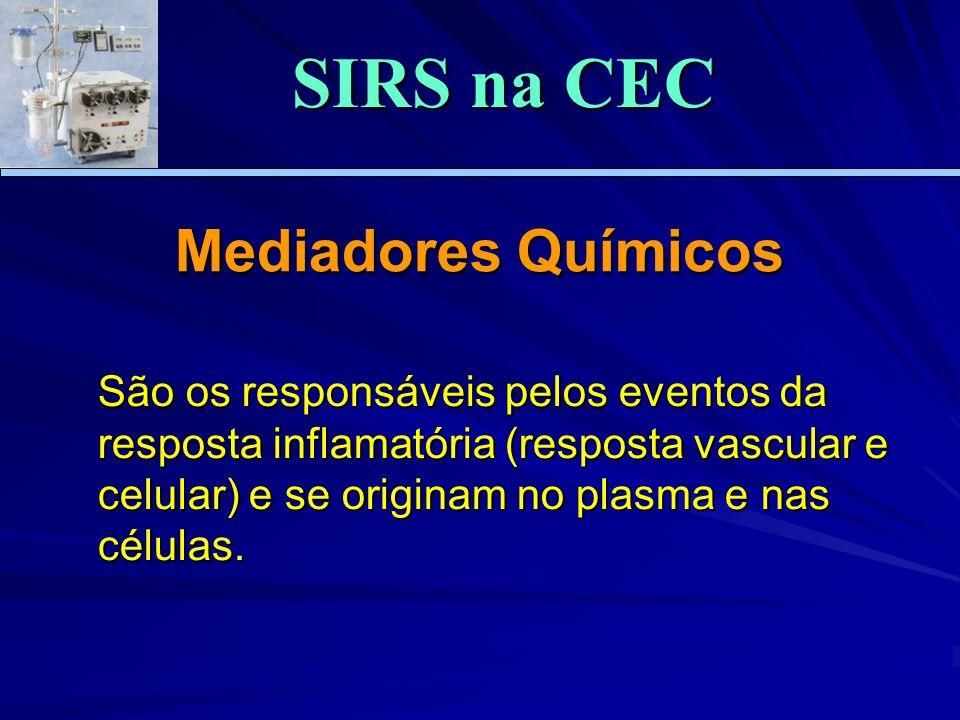 Mediadores Químicos São os responsáveis pelos eventos da resposta inflamatória (resposta vascular e celular) e se originam no plasma e nas células. SI
