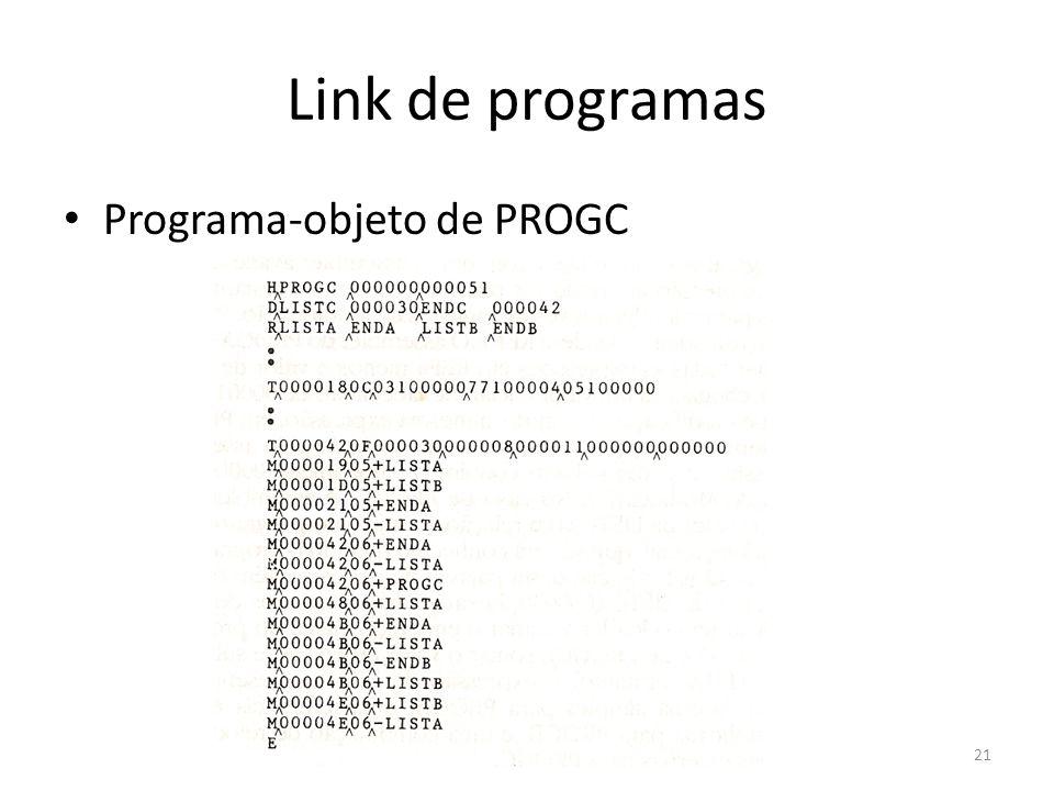 Link de programas Programa-objeto de PROGC 21