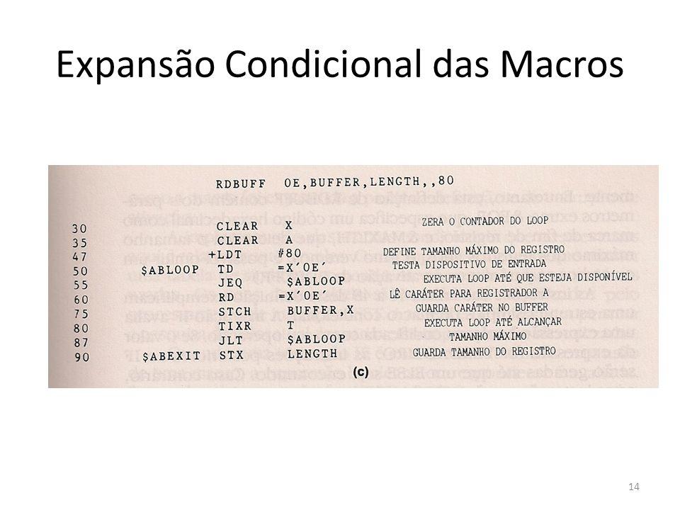 Expansão Condicional das Macros 14