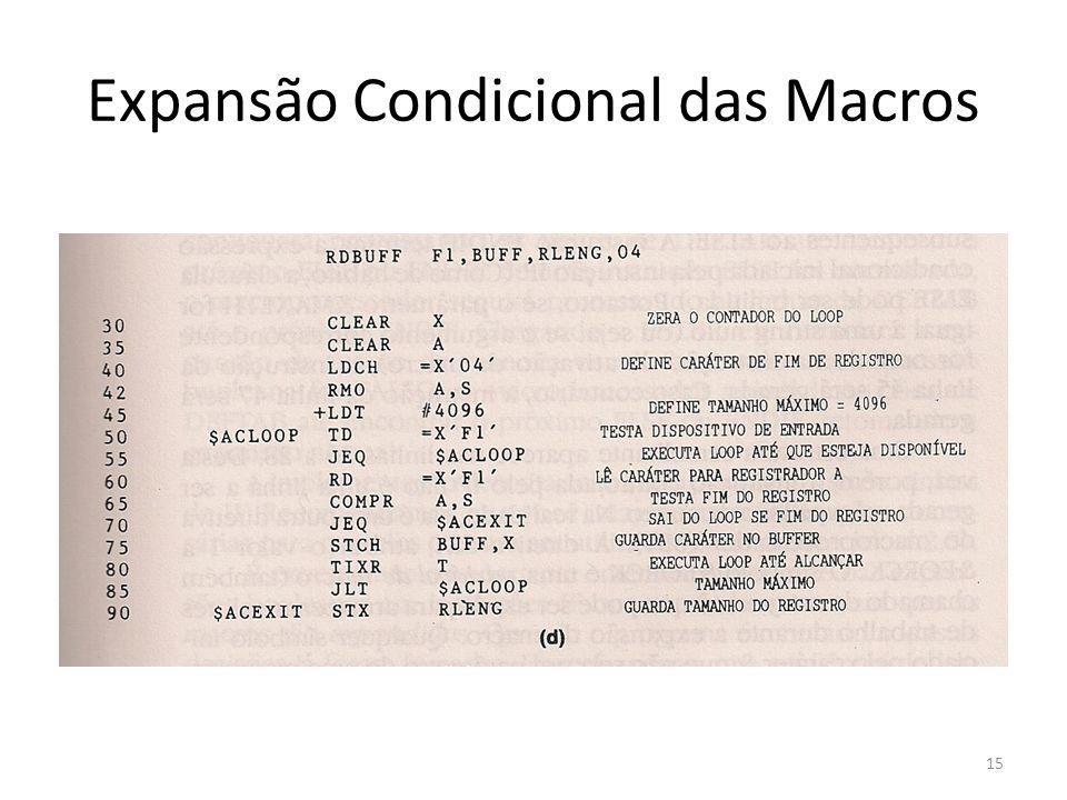 Expansão Condicional das Macros 15