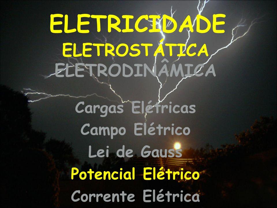 ELETRICIDADE Cargas Elétricas Campo Elétrico Lei de Gauss Potencial Elétrico Corrente Elétrica ELETROSTÁTICA ELETRODINÂMICA