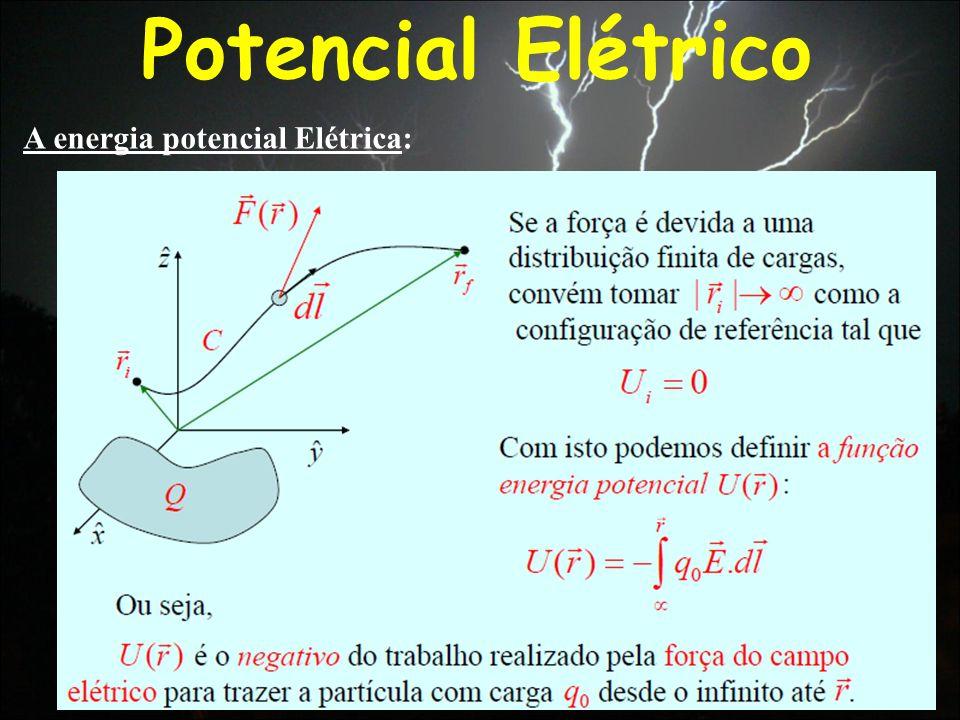 A energia potencial Elétrica: Potencial Elétrico