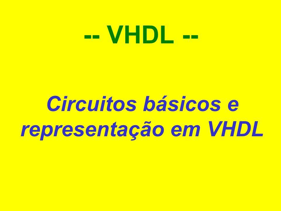 1Fernando Moraes / Ney Calazans -- VHDL -- Circuitos básicos e representação em VHDL