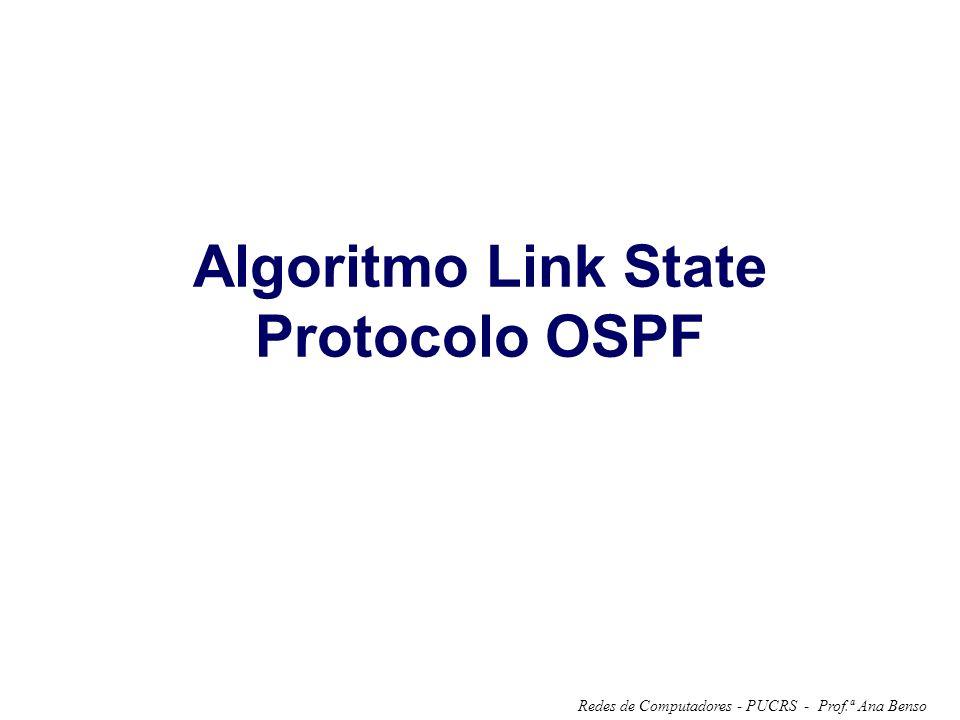 Prof.ª Ana BensoRedes de Computadores - PUCRS - Algoritmo Link State Protocolo OSPF