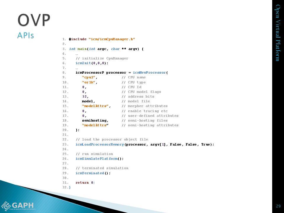 Open Virtual Platform 29
