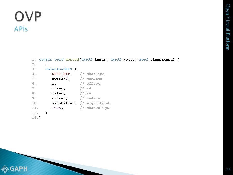 Open Virtual Platform 32