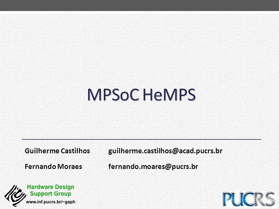 MPSoC HeMPS Guilherme Castilhos guilherme.castilhos@acad.pucrs.br Fernando Moraes fernando.moares@pucrs.br