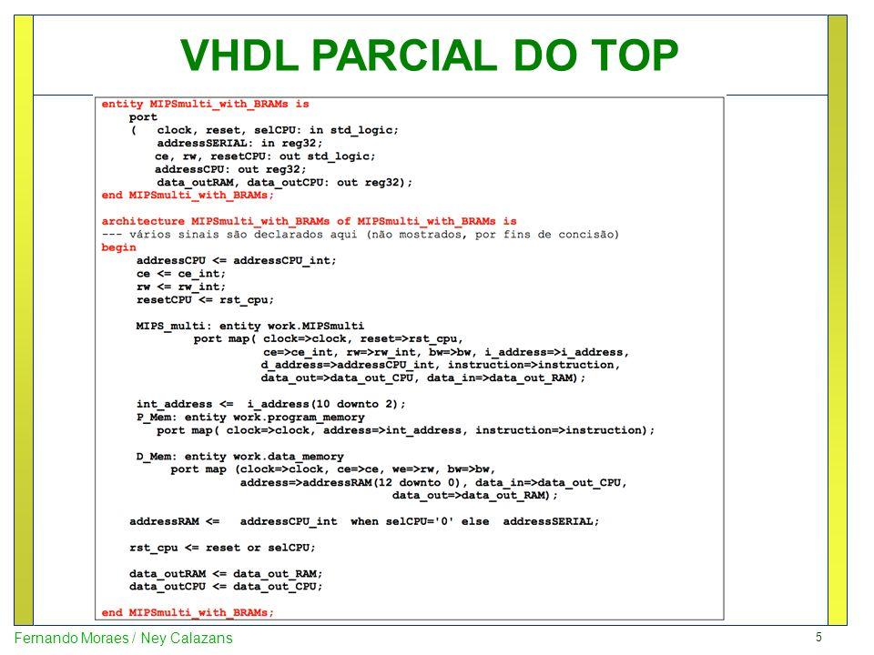 16 Fernando Moraes / Ney Calazans Visão macro da simulação Percebe-se 11 escritas na memória de dados (resultados das somas)