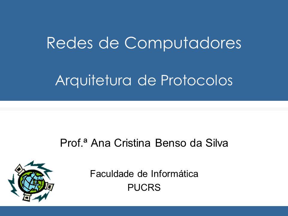 Redes de Computadores Arquitetura de Protocolos Prof.ª Ana Cristina Benso da Silva Faculdade de Informática PUCRS