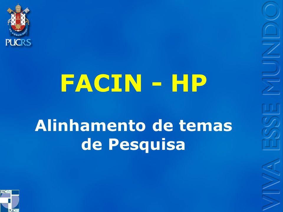 AGENDA FACIN e PPGCC PROJETOS ATUAIS FACIN HP POSSIBILIDADES DE NOVOS PROJETOS