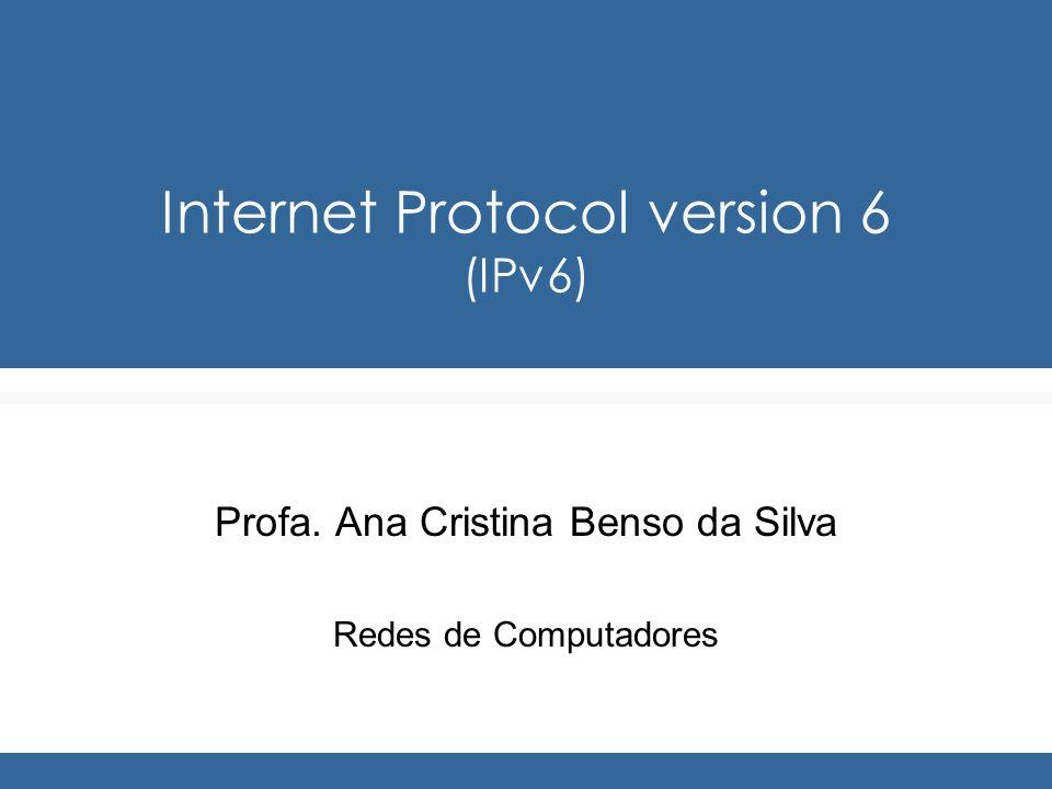 Internet Protocol version 6 (IPv6) Profa. Ana Cristina Benso da Silva Redes de Computadores