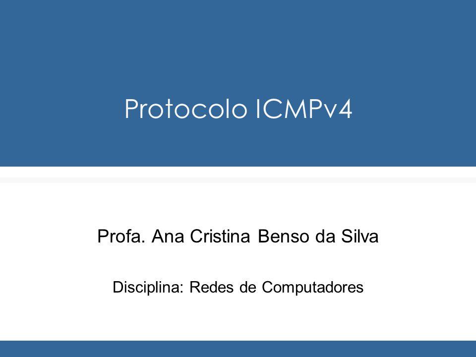 Protocolo ICMPv4 Profa. Ana Cristina Benso da Silva Disciplina: Redes de Computadores