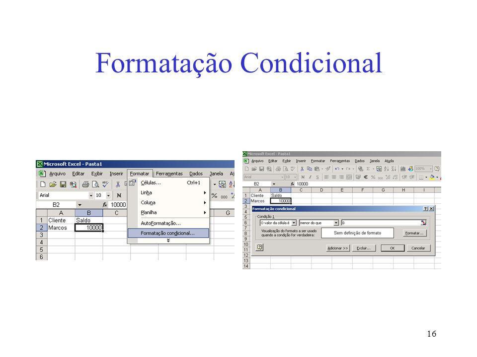 16 Formatação Condicional