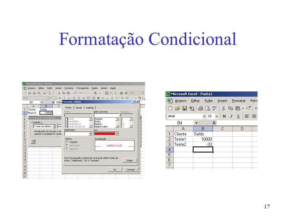 17 Formatação Condicional