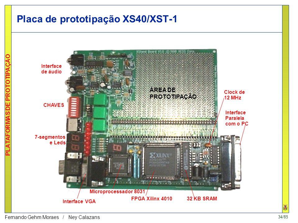 33/85 PLATAFORMAS DE PROTOTIPAÇÃO Fernando Gehm Moraes / Ney Calazans Placa de prototipação XS40