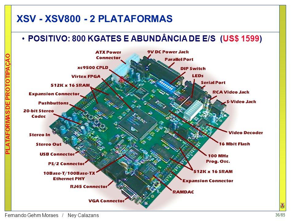 35/85 PLATAFORMAS DE PROTOTIPAÇÃO Fernando Gehm Moraes / Ney Calazans XS40 / XStend