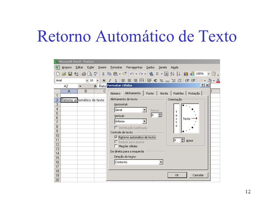 12 Retorno Automático de Texto