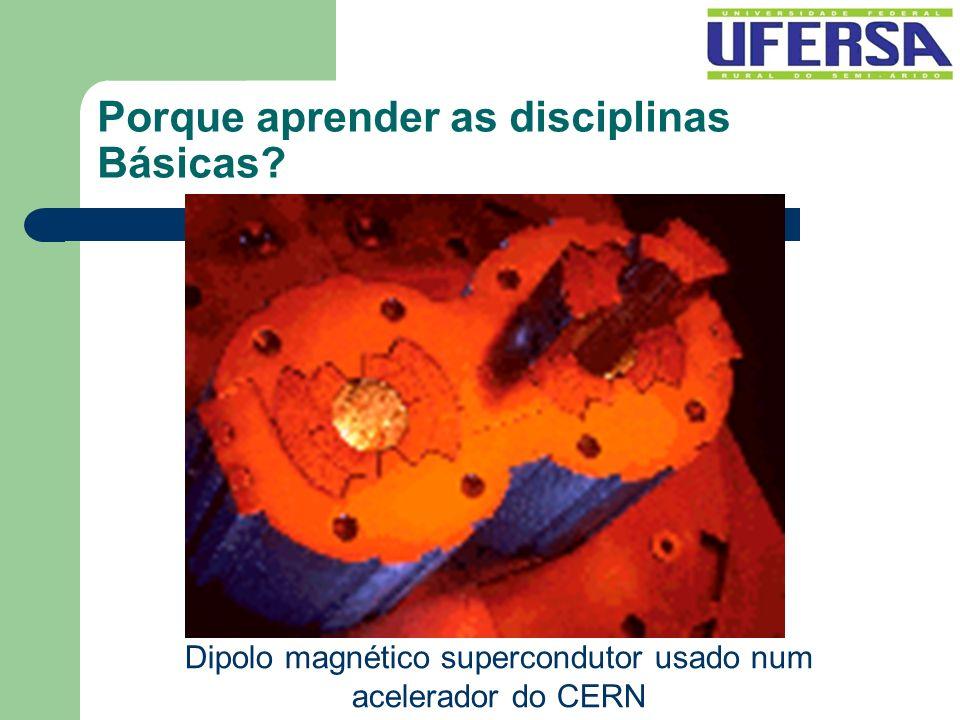 Porque aprender as disciplinas Básicas? Dipolo magnético supercondutor usado num acelerador do CERN