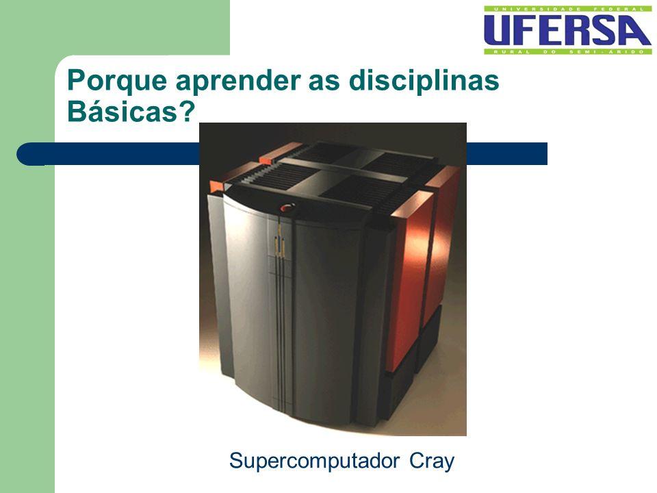 Porque aprender as disciplinas Básicas? Supercomputador Cray