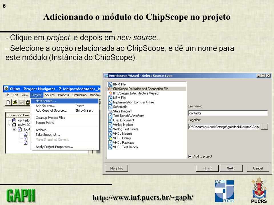 17 ChipScope Pro Analyser - É o analisador lógico do ChipScope.