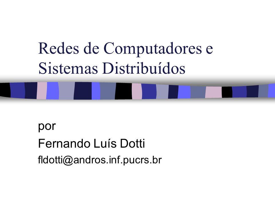 Redes de Computadores e Sistemas Distribuídos por Fernando Luís Dotti fldotti@andros.inf.pucrs.br