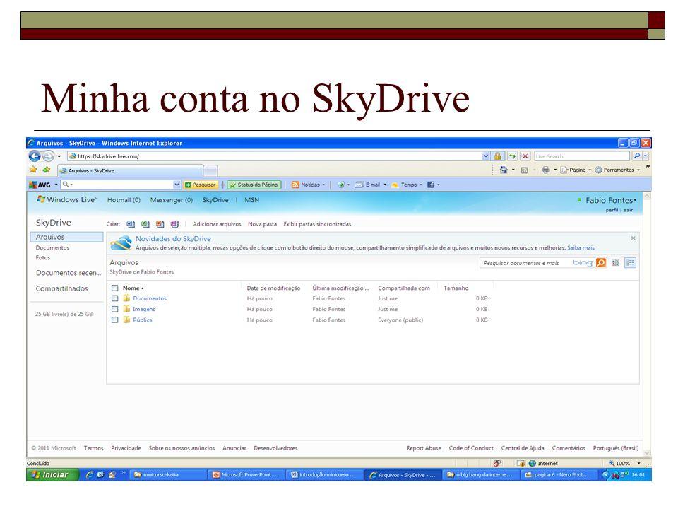 Minha conta no SkyDrive