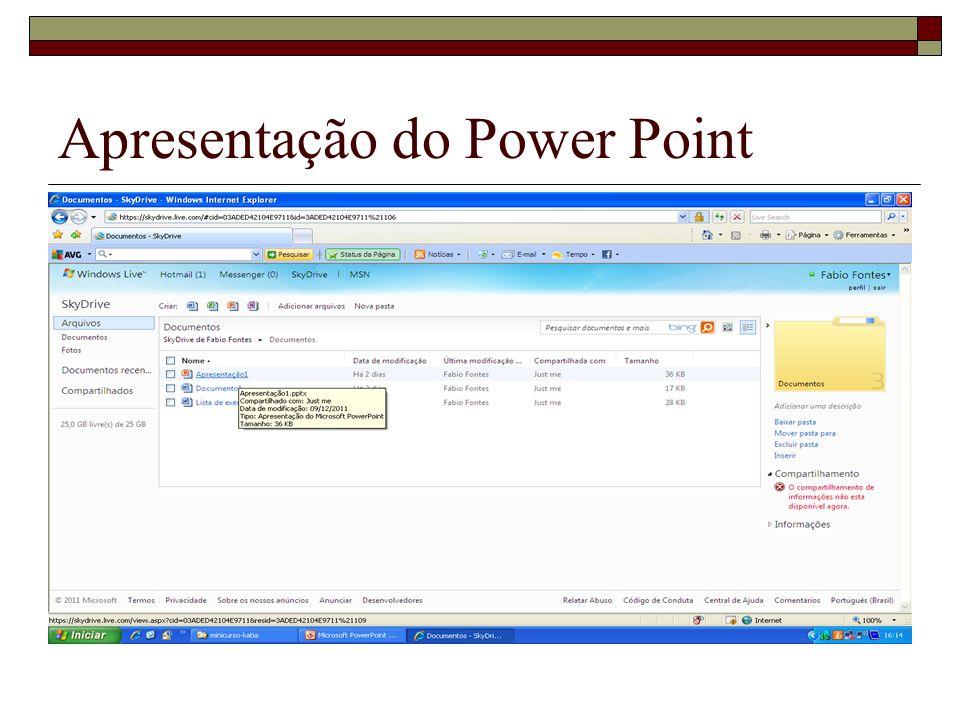 Apresentação do Power Point