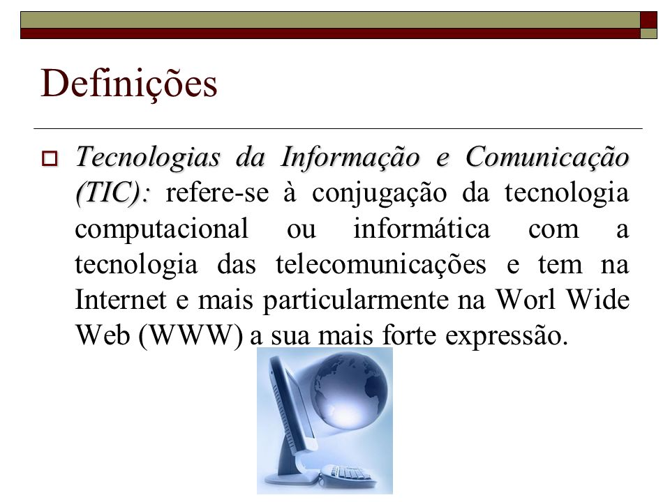 Definições Literacia Informática: Literacia Informática: o conjunto de conhecimentos, competências e atitudes em relação aos computadores que levam alguém a lidar com confiança com a tecnologia computacional na sua vida diária