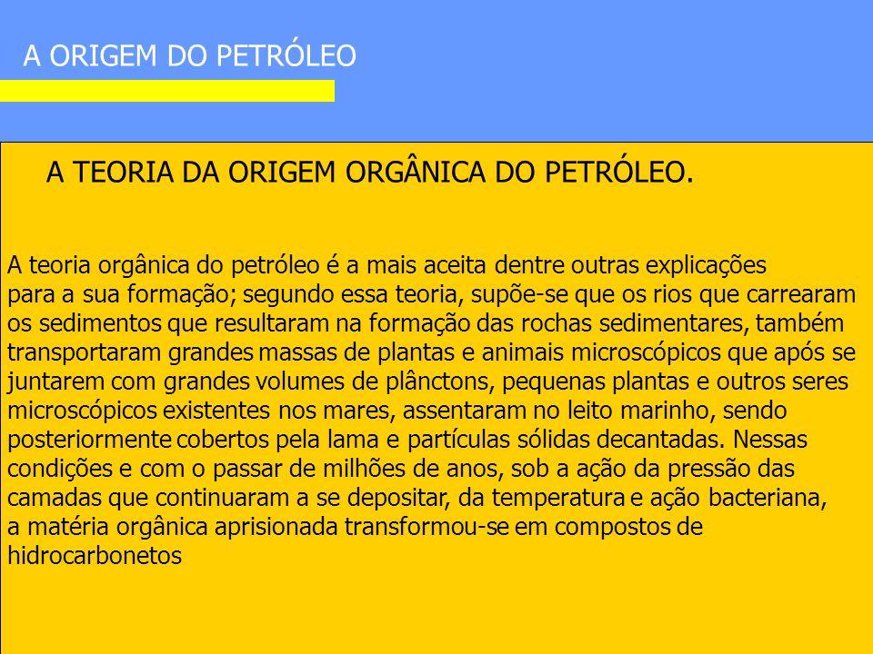 A ORIGEM DO PETRÓLEO A TEORIA DA ORIGEM ORGÂNICA DO PETRÓLEO.