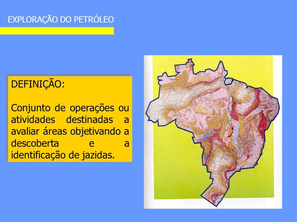 DEFINIÇÃO: Conjunto de operações ou atividades destinadas a avaliar áreas objetivando a descoberta e a identificação de jazidas.