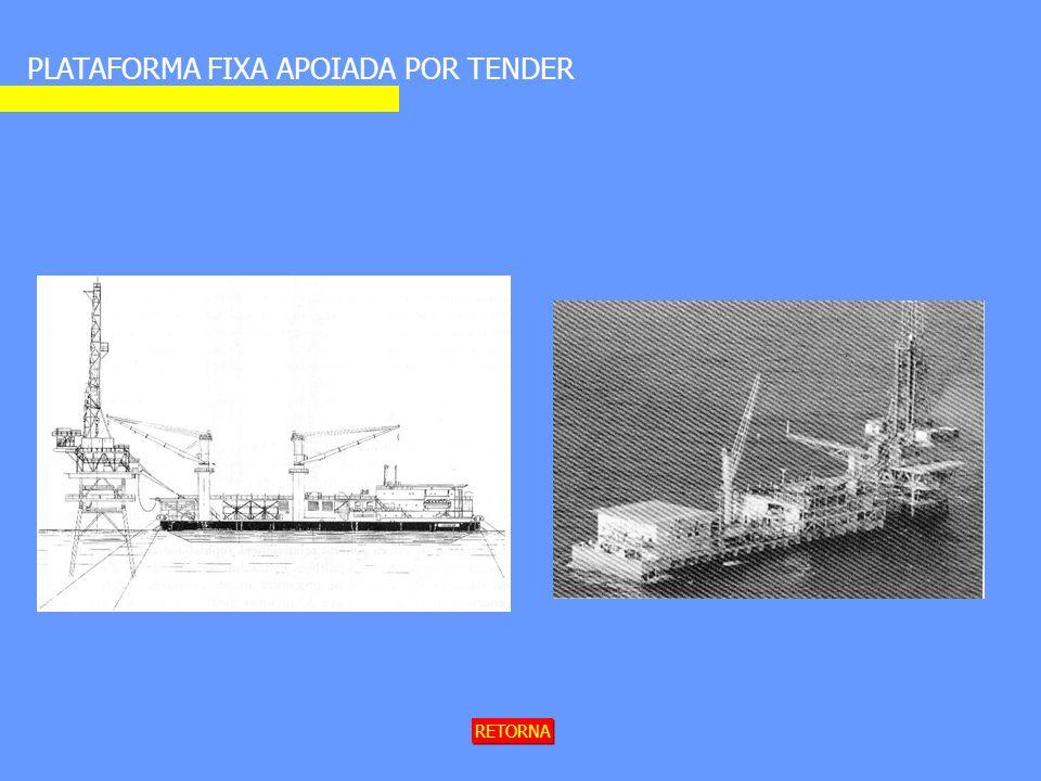 PLATAFORMA FIXA APOIADA POR TENDER RETORNA