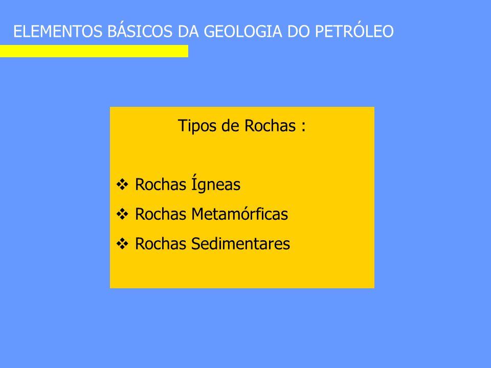 ELEMENTOS BÁSICOS DA GEOLOGIA DO PETRÓLEO As rochas sedimentares.