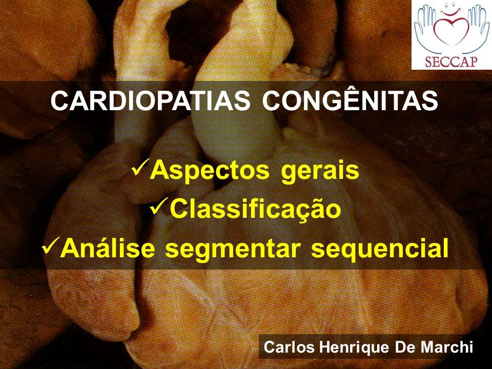 CARDIOPATIAS CONGÊNITAS Aspectos gerais Classificação Análise segmentar sequencial Carlos Henrique De Marchi