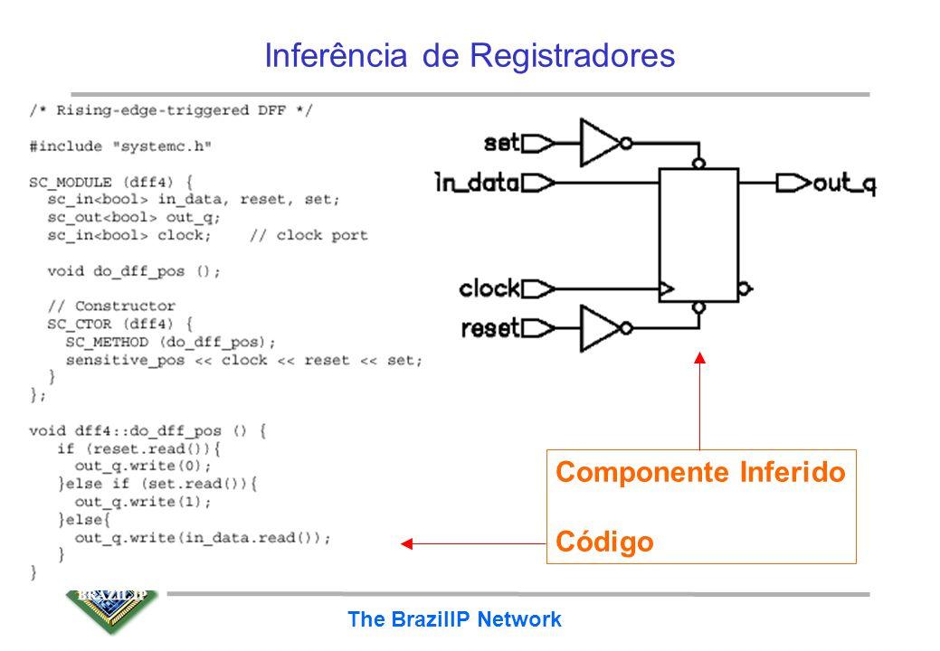 BRAZIL IP The BrazilIP Network Inferência de Registradores Flip-flop D com Set e Reset assíncrono ativo em 1 –problema aqui é que fazer quando set e r