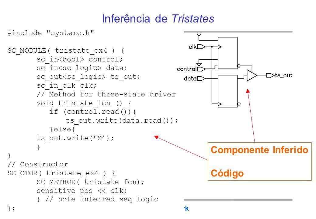 BRAZIL IP The BrazilIP Network Tristate com entradas registradas (ou registrador com saída tristate) #include