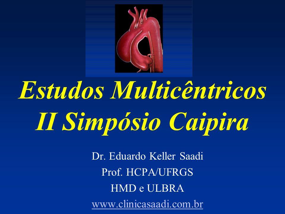 Estudos Multicêntricos II Simpósio Caipira Dr. Eduardo Keller Saadi Prof. HCPA/UFRGS HMD e ULBRA www.clinicasaadi.com.br