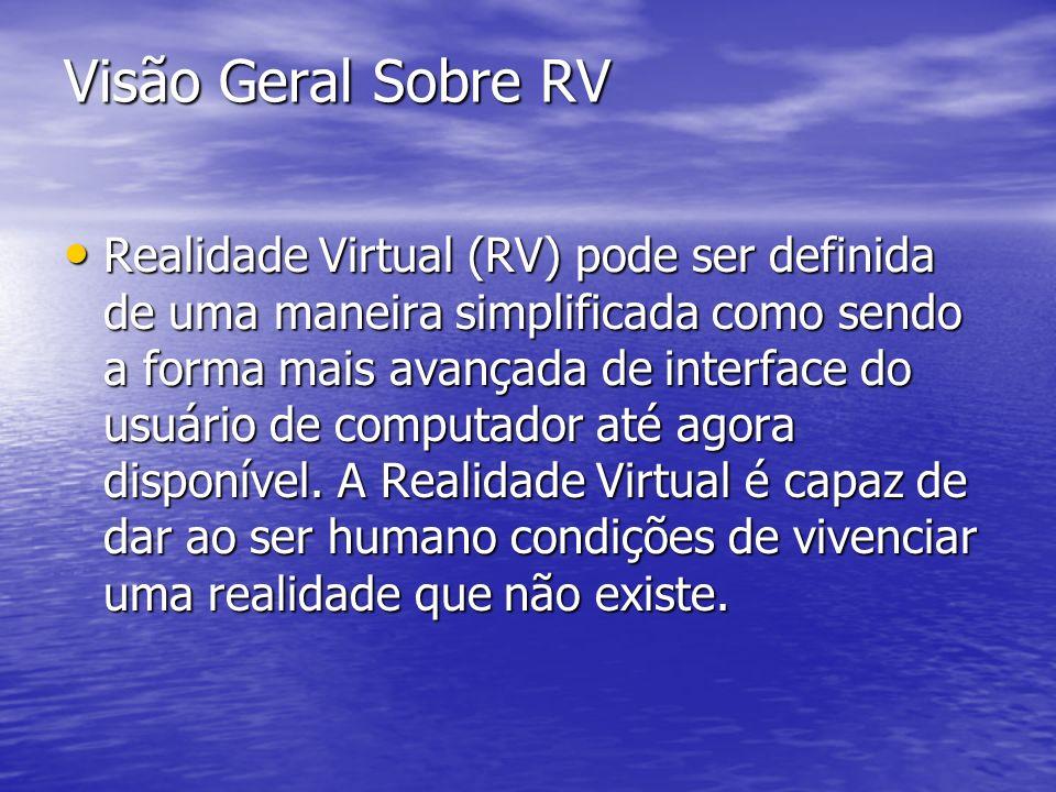 Visão Geral Sobre RV Realidade Virtual (RV) pode ser definida de uma maneira simplificada como sendo a forma mais avançada de interface do usuário de