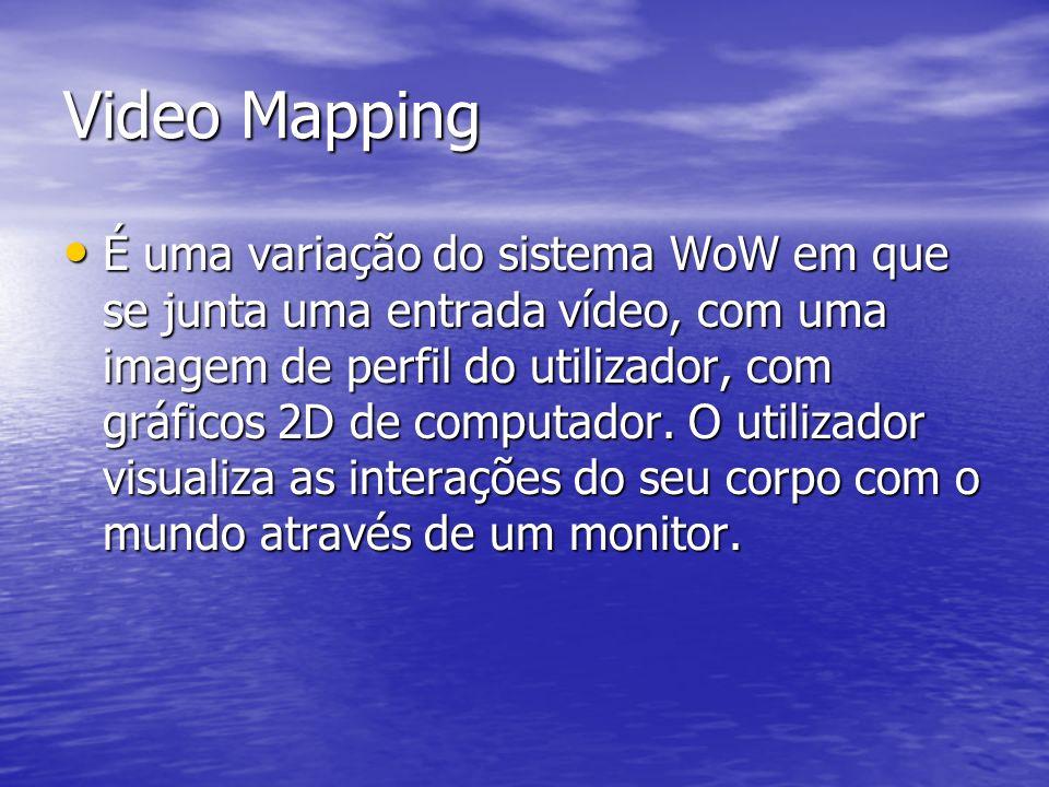 Video Mapping É uma variação do sistema WoW em que se junta uma entrada vídeo, com uma imagem de perfil do utilizador, com gráficos 2D de computador.