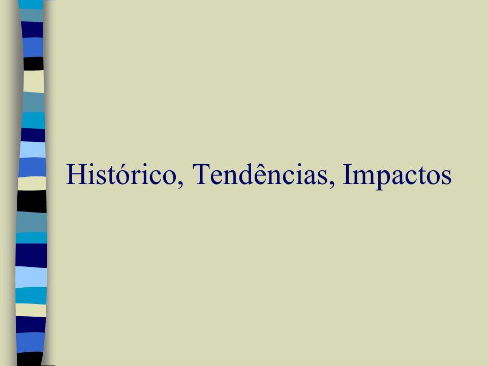 Histórico: Evolução da Internet * Antecedentes n 1830: Telégrafo n 1876: Chaveamento de circuito (Telefone) Década de 60 n início dos anos 60: Conceito de chaveamento de pacote (Paul Baran) n 1965: M.I.T.