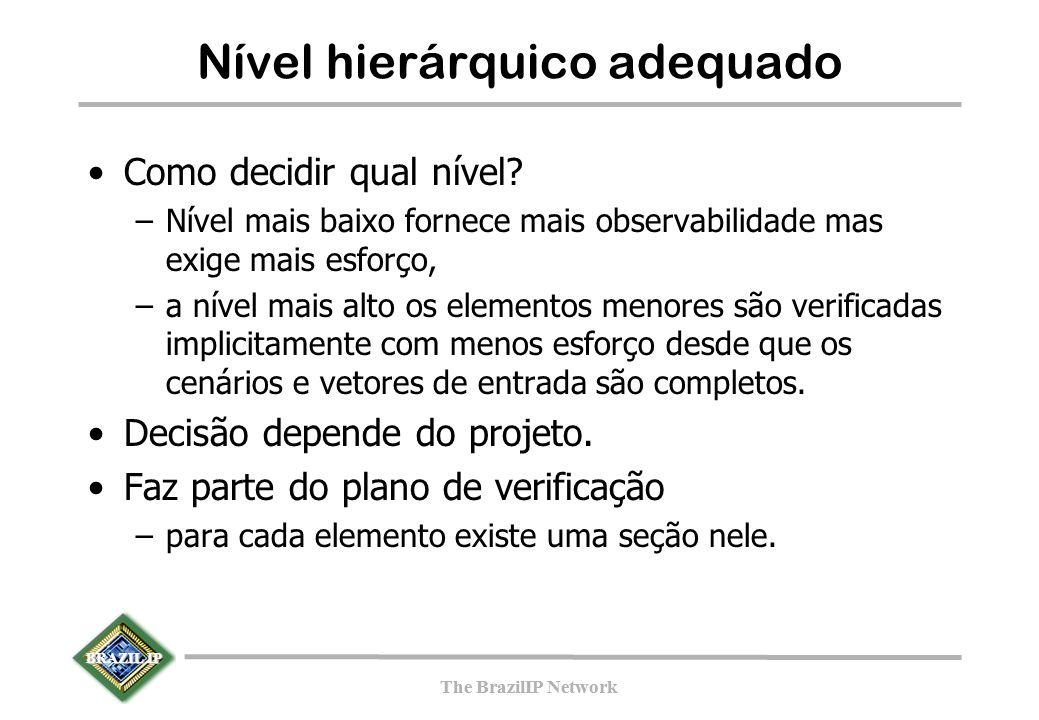 BRAZIL IP The BrazilIP Network BRAZIL IP The BrazilIP Network Nível hierárquico adequado Como decidir qual nível.