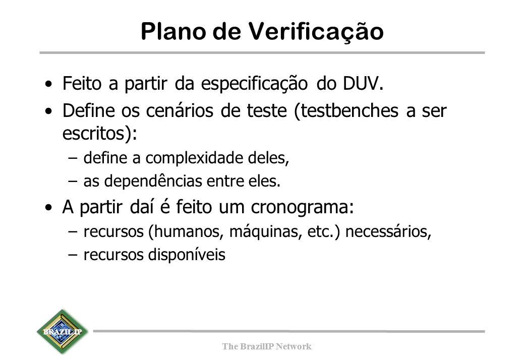 BRAZIL IP The BrazilIP Network BRAZIL IP The BrazilIP Network Plano de Verificação Feito a partir da especificação do DUV.