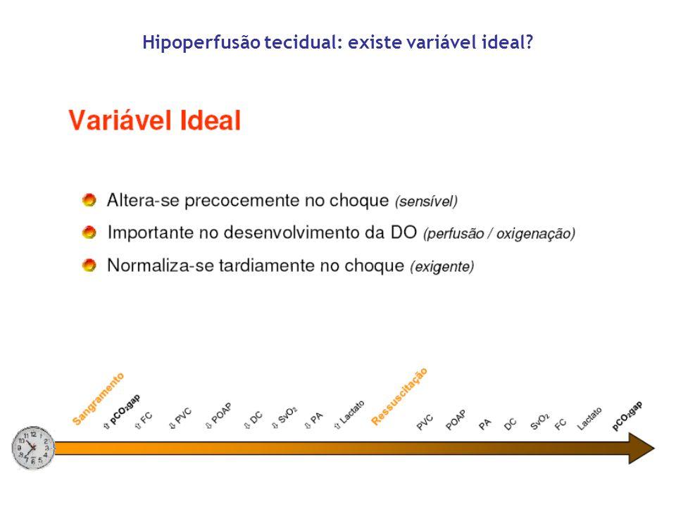 Hipoperfusão tecidual: existe variável ideal?