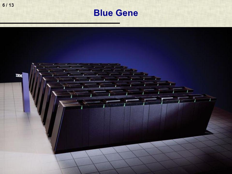 6 / 13 Blue Gene