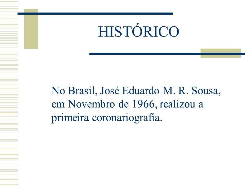 No Brasil, José Eduardo M. R. Sousa, em Novembro de 1966, realizou a primeira coronariografia. HISTÓRICO