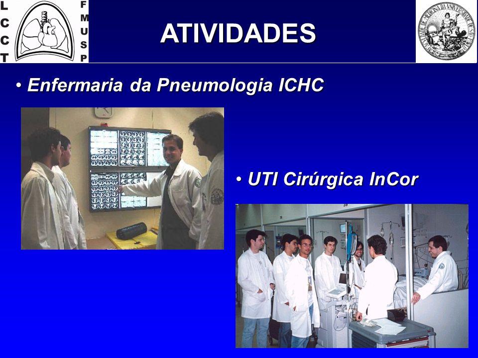 Enfermaria da Pneumologia ICHC Enfermaria da Pneumologia ICHC ATIVIDADES UTI Cirúrgica InCor UTI Cirúrgica InCor