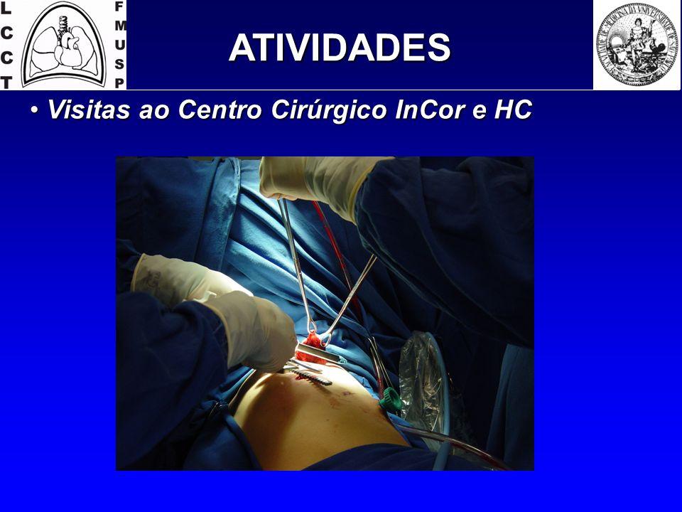 ATIVIDADES Visitas ao Centro Cirúrgico InCor e HC Visitas ao Centro Cirúrgico InCor e HC