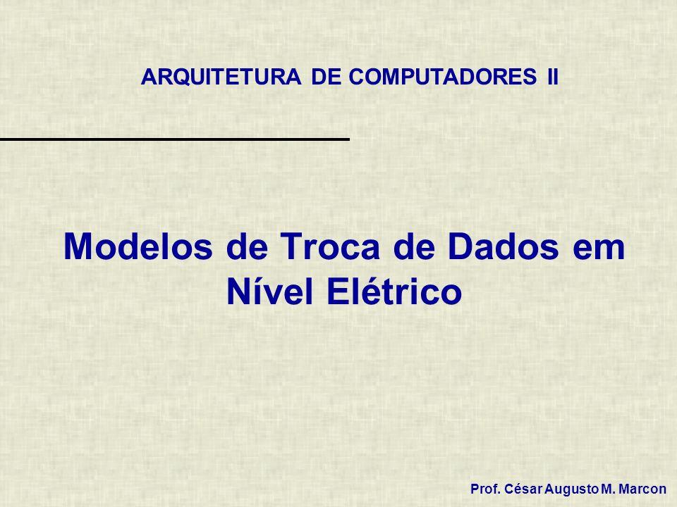 Modelos de Troca de Dados em Nível Elétrico ARQUITETURA DE COMPUTADORES II Prof. César Augusto M. Marcon