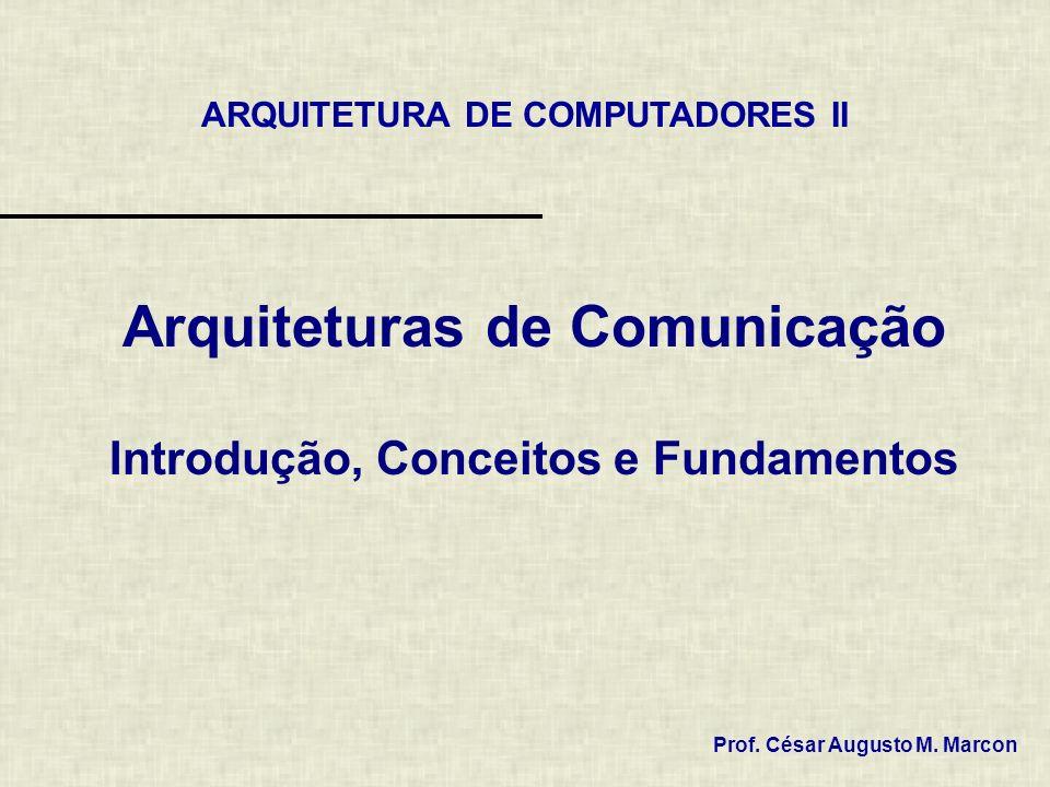 Arquiteturas de Comunicação Introdução, Conceitos e Fundamentos Prof. César Augusto M. Marcon ARQUITETURA DE COMPUTADORES II